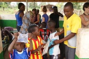 The wonderful Karim with the children