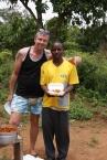 Wandering Volunteer (left) with the wonderful Karim.