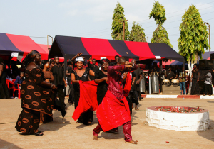 Traditional Ghanaian funeral.