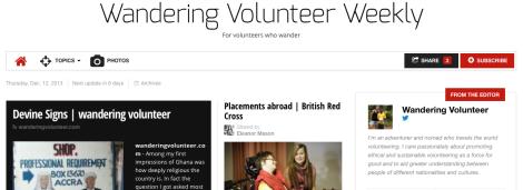 Weekly Volunteer Weekly