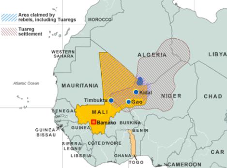 Traditional Tuareg homeland