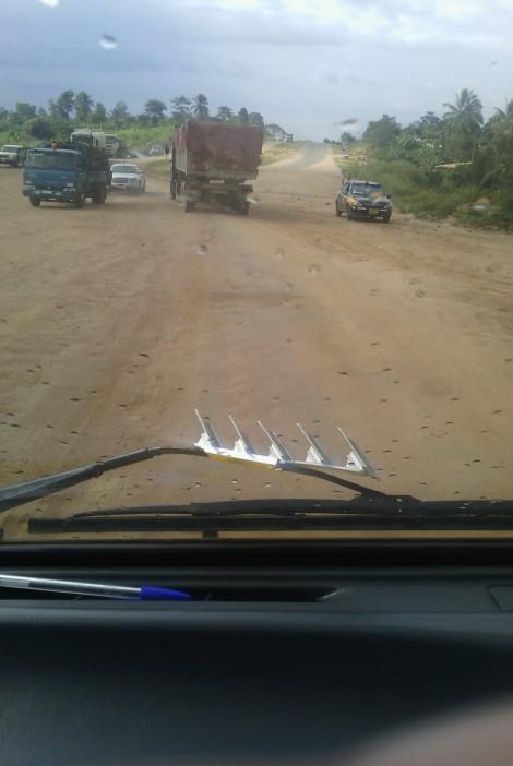 The main highway between Accra and Kumasi