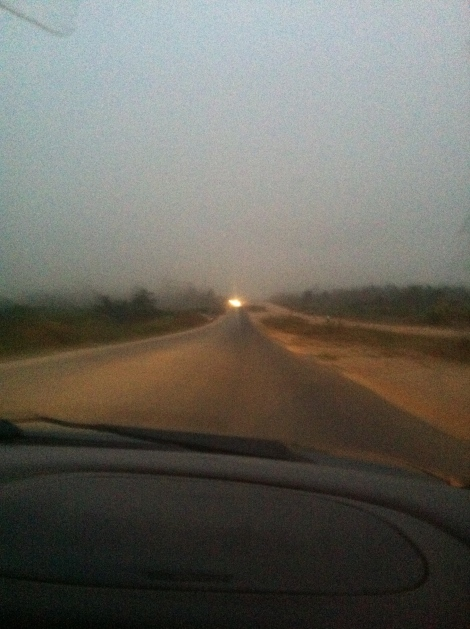 Dawn on the Accra to Kumasi Highway